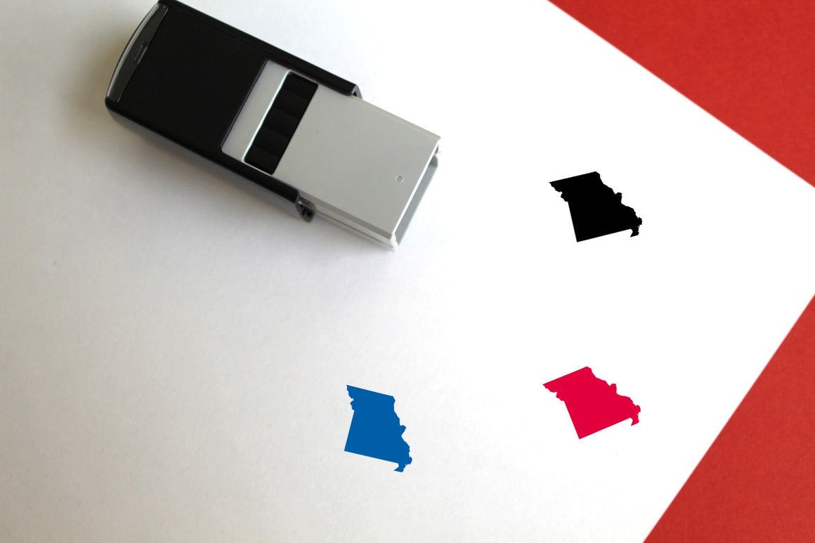 Missouri Self-Inking Rubber Stamp