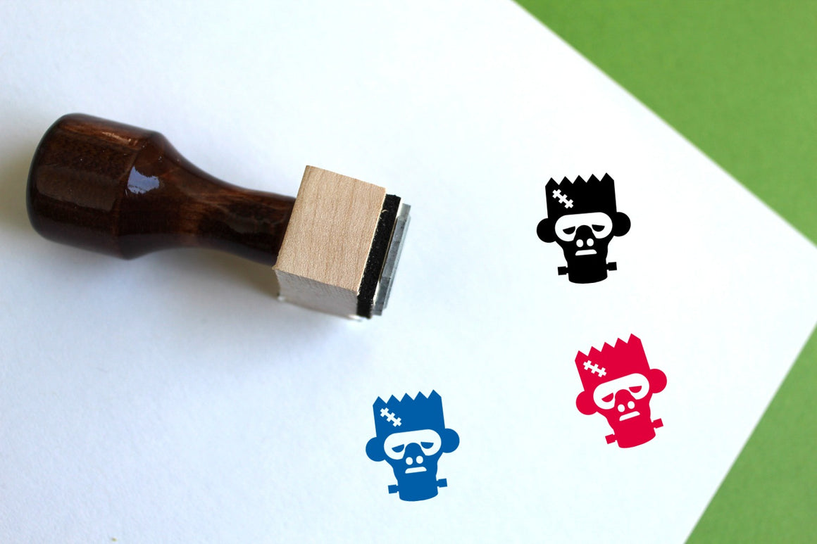 Frankenstein's Monster Wooden Rubber Stamp