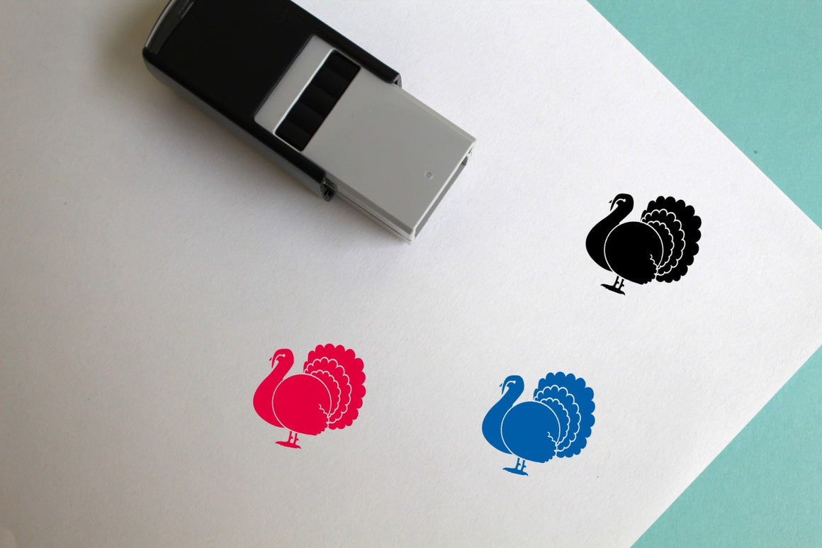 Turkey Self-Inking Rubber Stamp