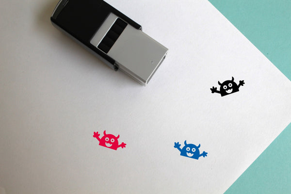 Monster Self-Inking Rubber Stamp