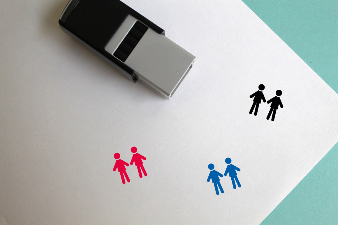 People Self-Inking Rubber Stamp