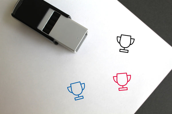 Trophy Self-Inking Rubber Stamp
