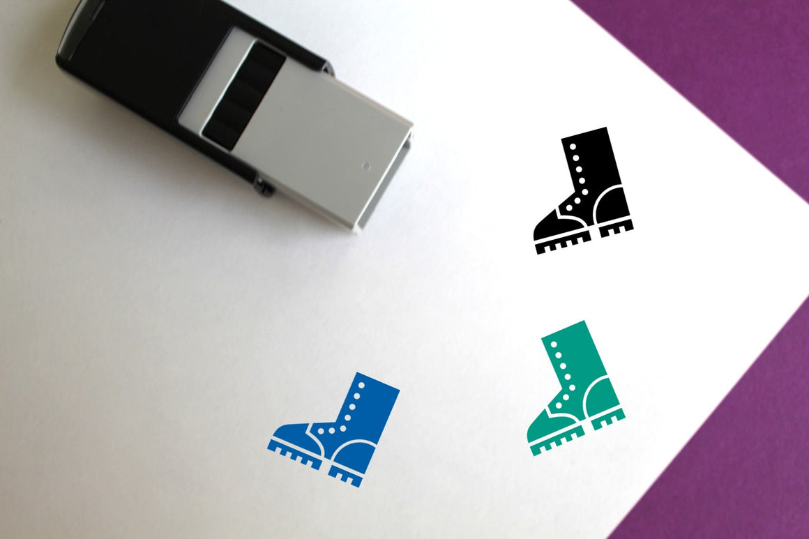Logger Boot Self-Inking Rubber Stamp