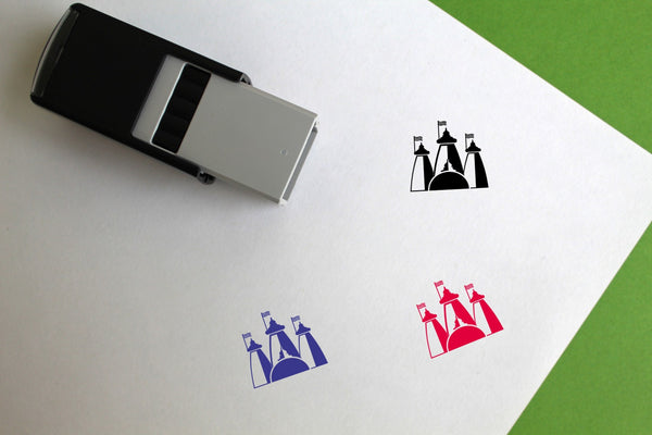 Temple Self-Inking Rubber Stamp