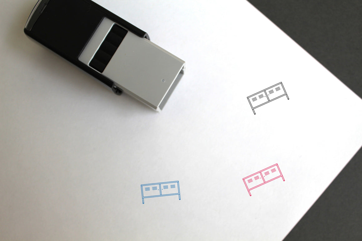 Cabinet Self-Inking Rubber Stamp