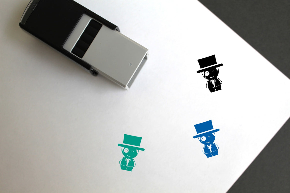 Superhero Self-Inking Rubber Stamp