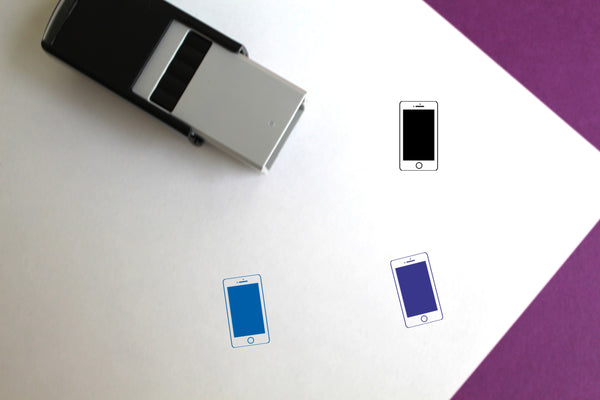 iPhone Self-Inking Rubber Stamp