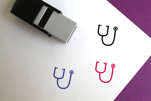 Stethoscope Self-Inking Rubber Stamp