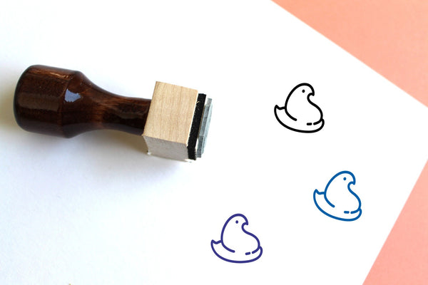 Peep Wooden Rubber Stamp