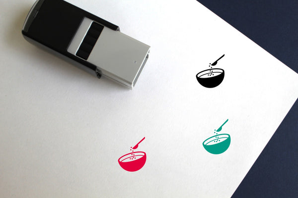 Spoon Self-Inking Rubber Stamp