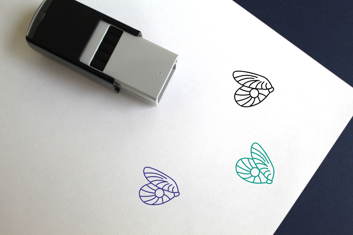 Pearl Self-Inking Rubber Stamp