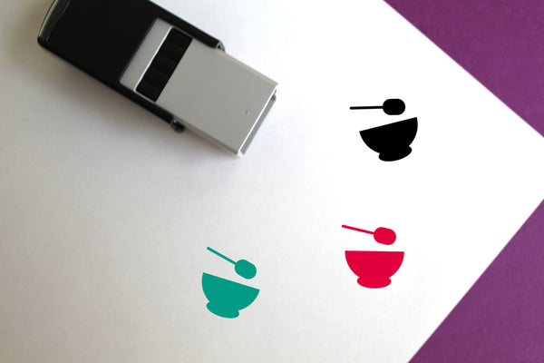 Food Self-Inking Rubber Stamp