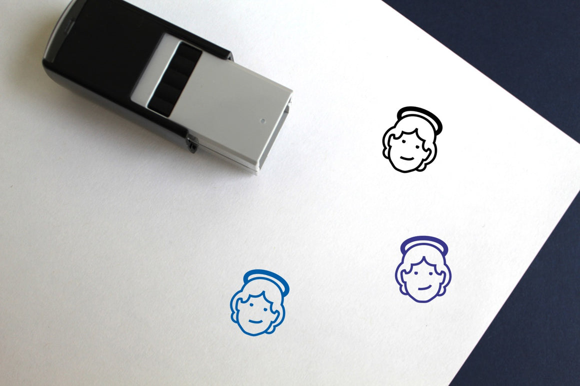 Angel Self-Inking Rubber Stamp