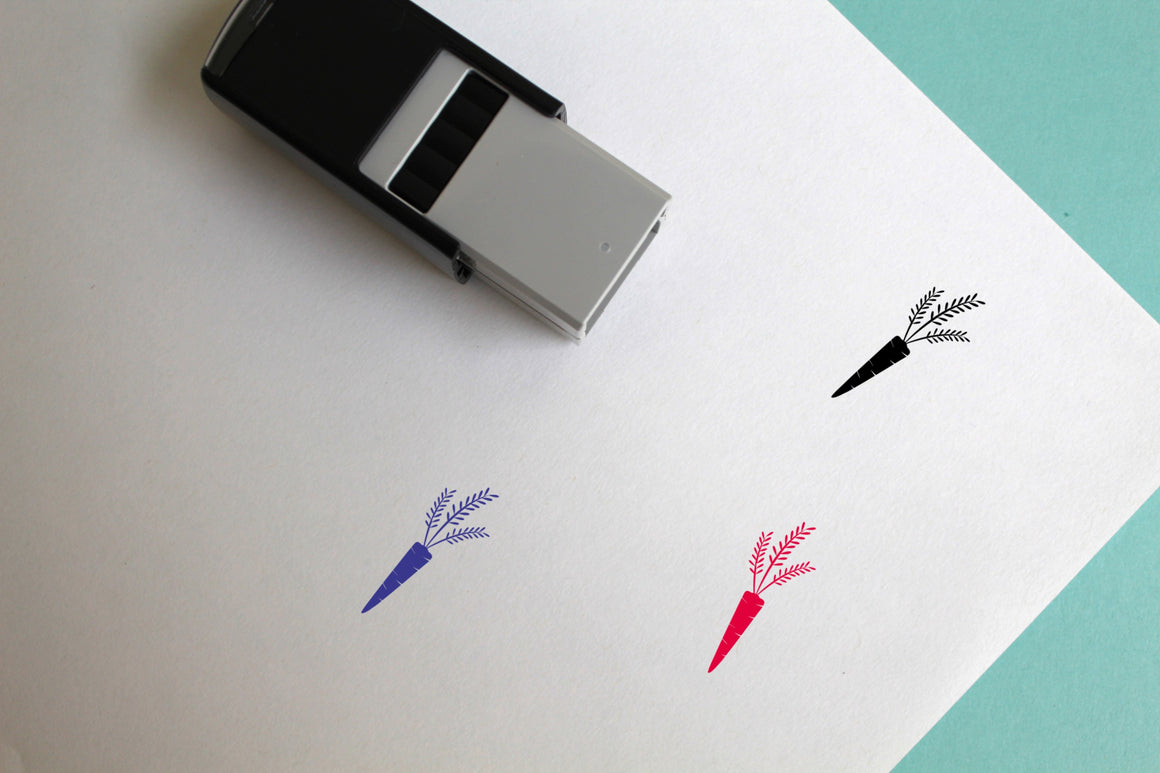 Fresh Carrot Self-Inking Rubber Stamp