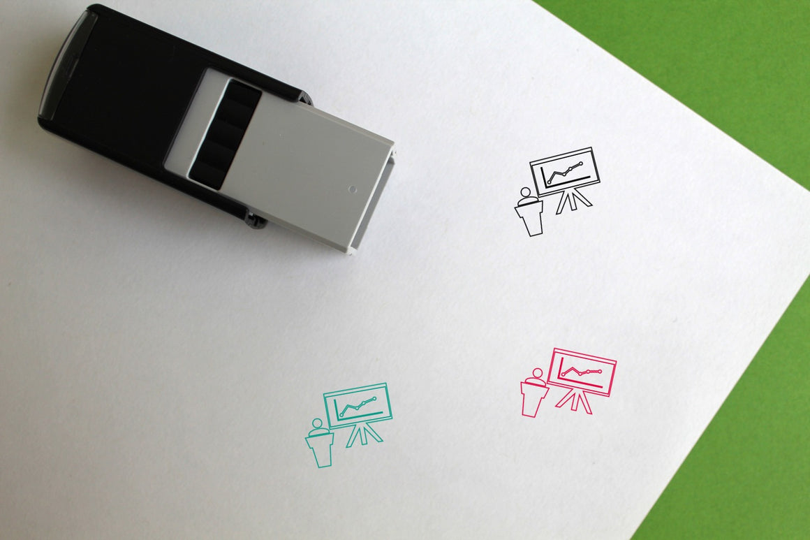 Presentation Self-Inking Rubber Stamp
