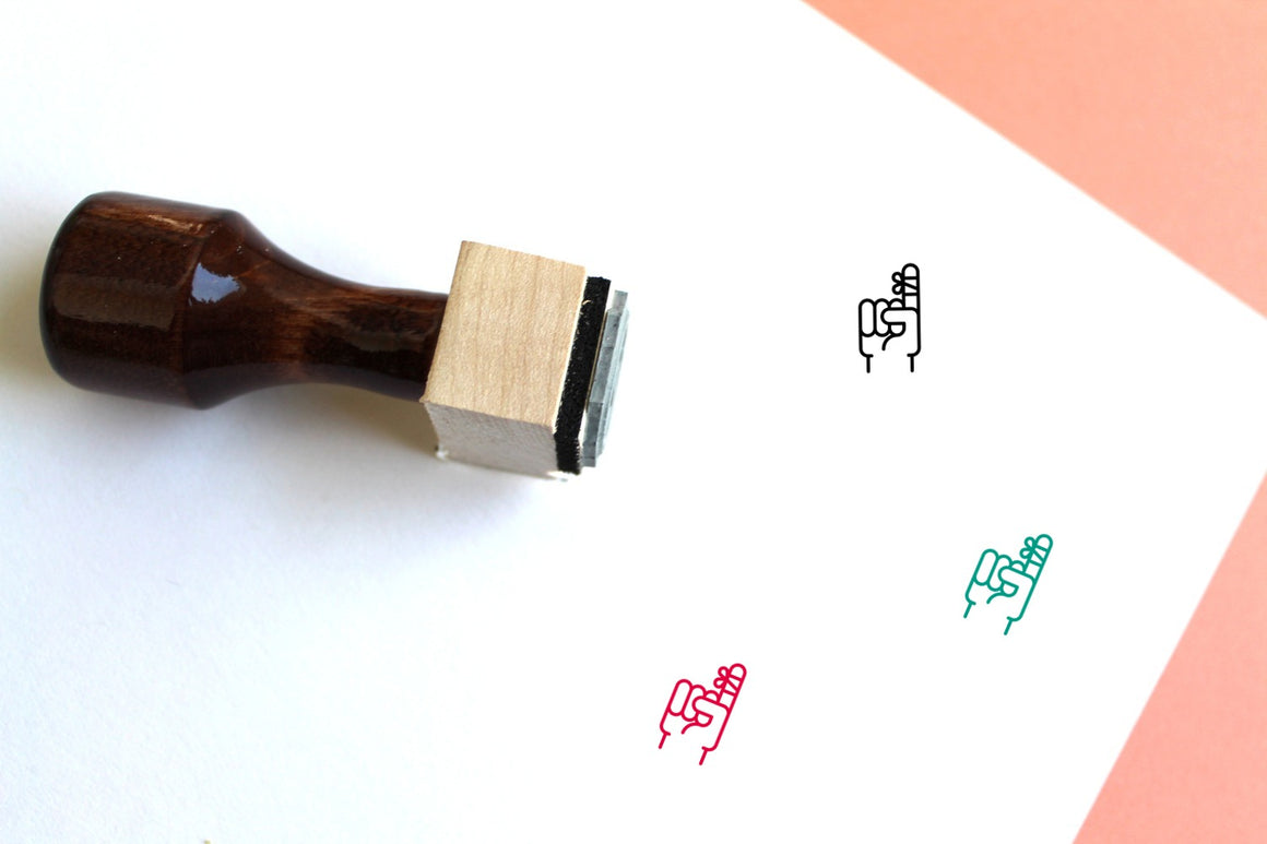 Injury Wooden Rubber Stamp