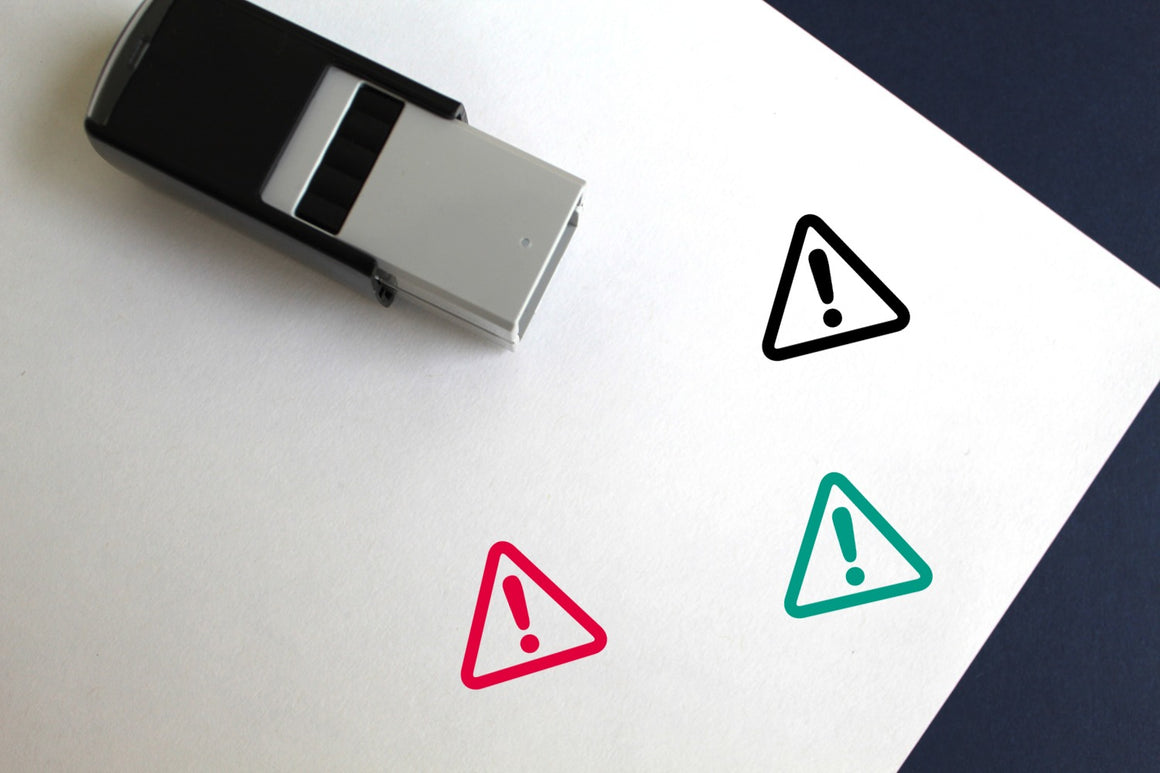 Alert Self-Inking Rubber Stamp