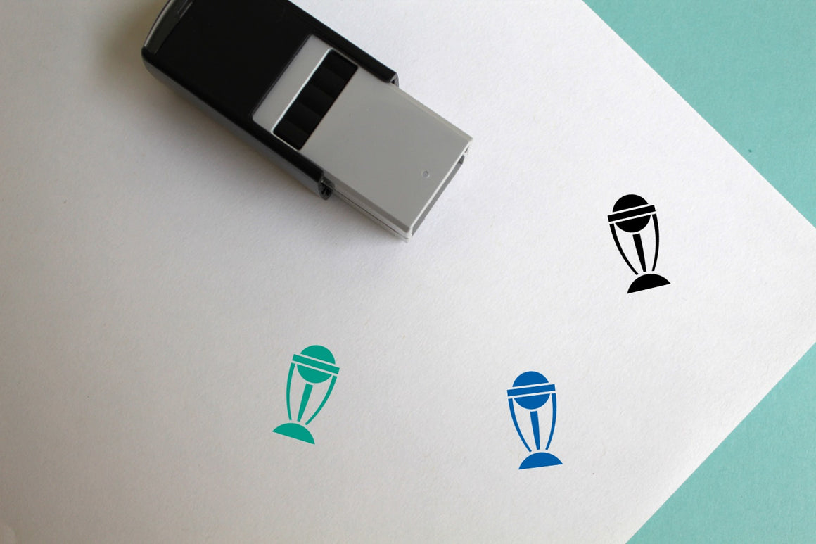 Cricket World Cup Self-Inking Rubber Stamp