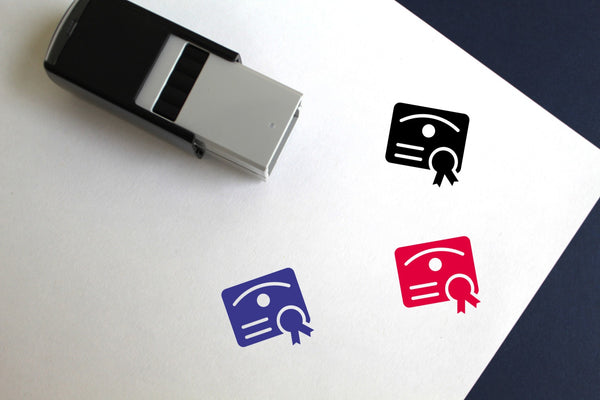 Degree Self-Inking Rubber Stamp