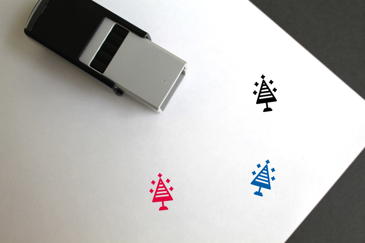 Christmas Self-Inking Rubber Stamp