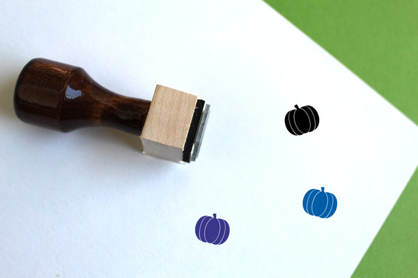 Pumpkin Wooden Rubber Stamp