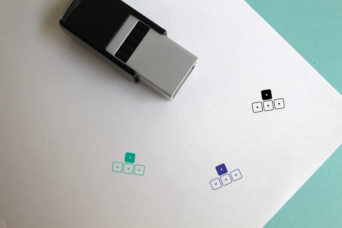 Keyboard Self-Inking Rubber Stamp