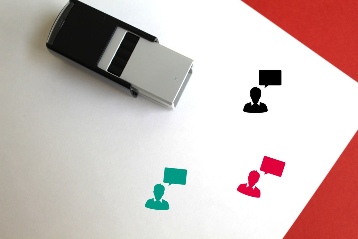 Speech Bubble Self-Inking Rubber Stamp