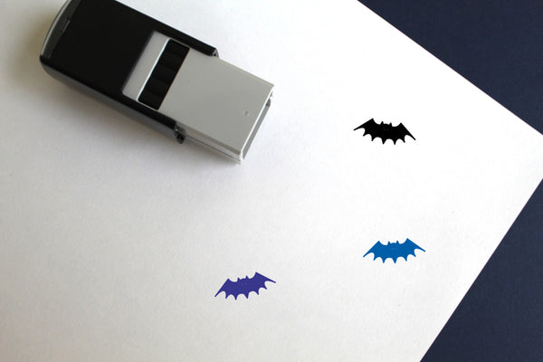 Bat Self-Inking Rubber Stamp
