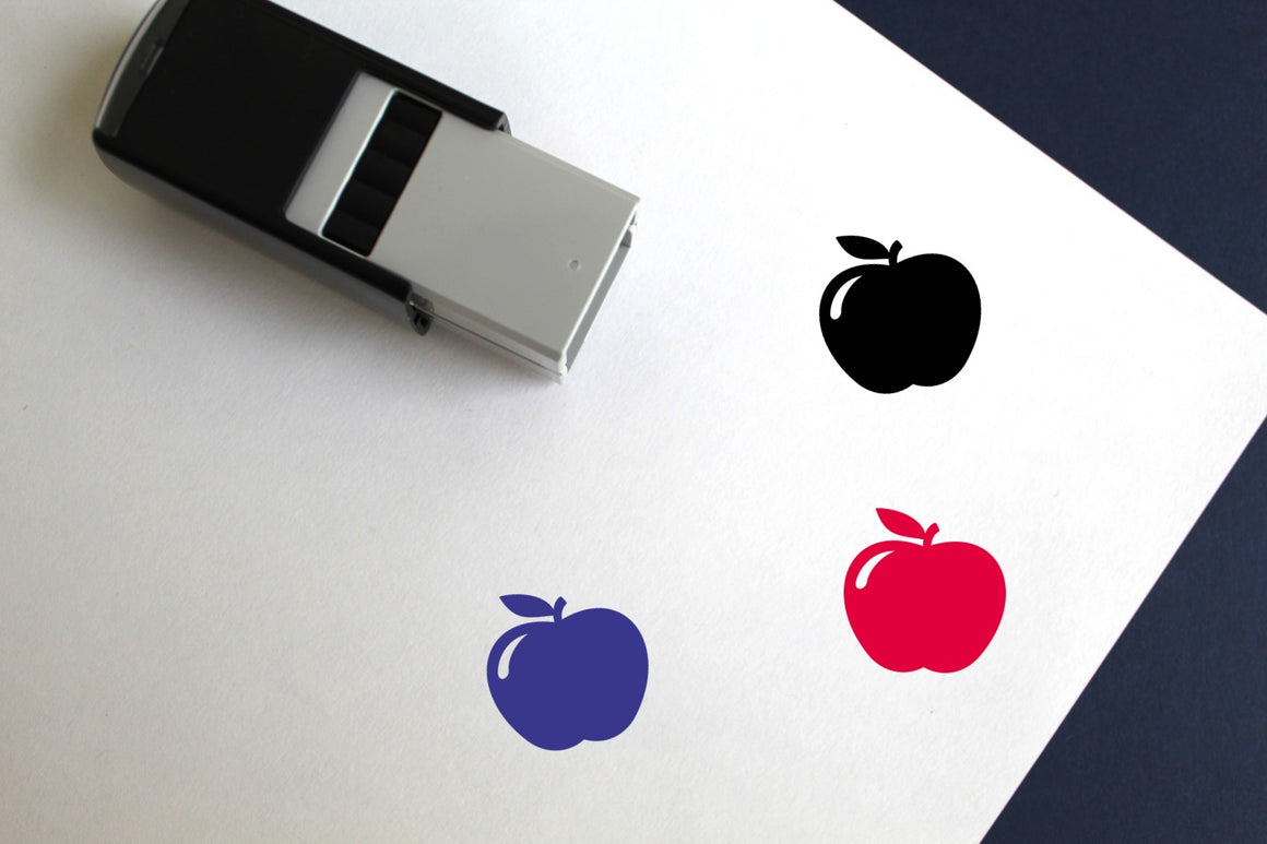 Apple Self-Inking Rubber Stamp