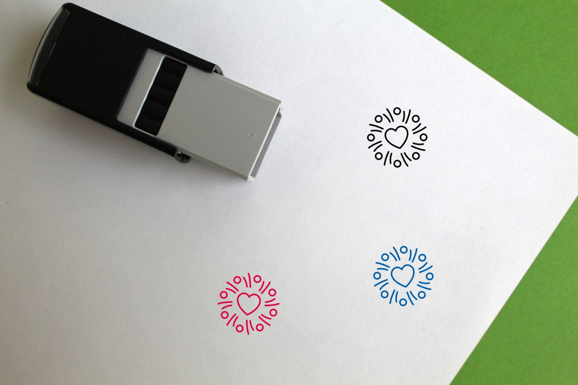 Valentines Day Self-Inking Rubber Stamp