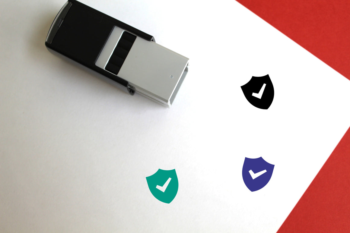 Security Self-Inking Rubber Stamp