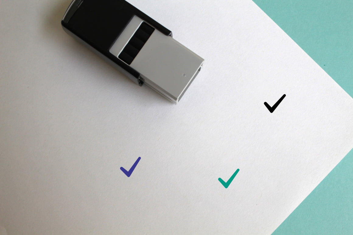 Check Mark Self-Inking Rubber Stamp