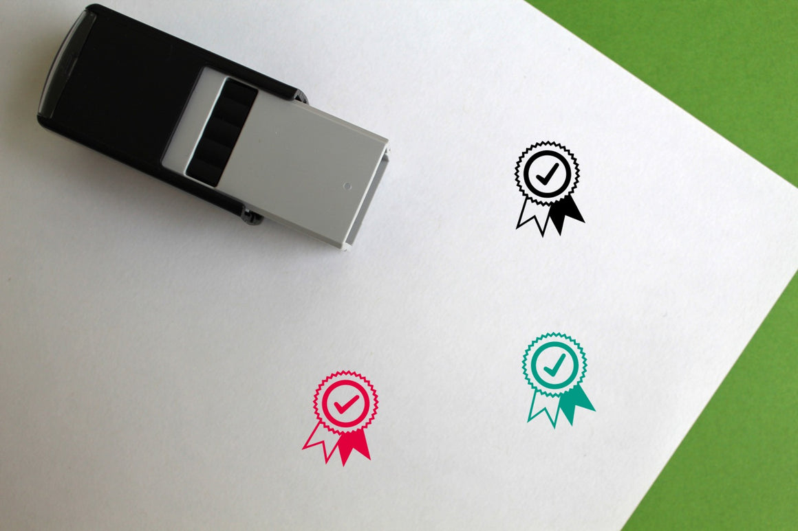 Rosette Self-Inking Rubber Stamp