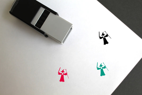 Wizard Self-Inking Rubber Stamp