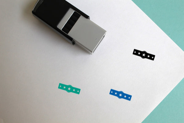 Belt Self-Inking Rubber Stamp