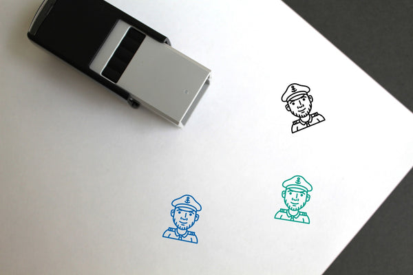 Captain Self-Inking Rubber Stamp
