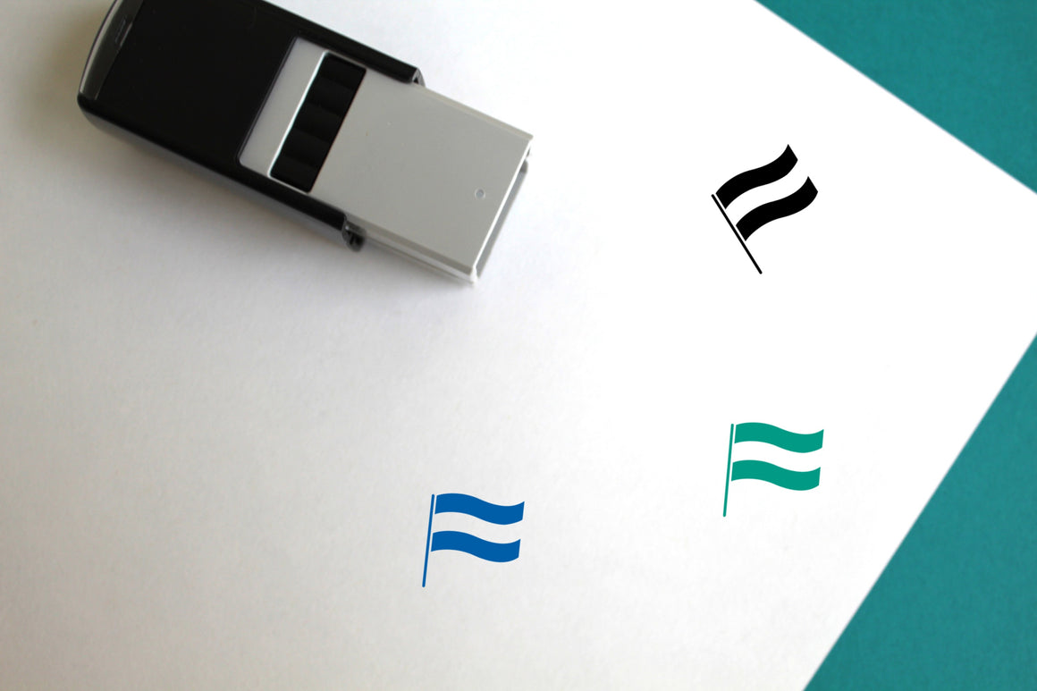 Hungarian Flag Self-Inking Rubber Stamp