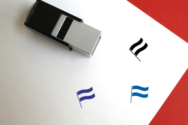 Luxembourgian Flag Self-Inking Rubber Stamp