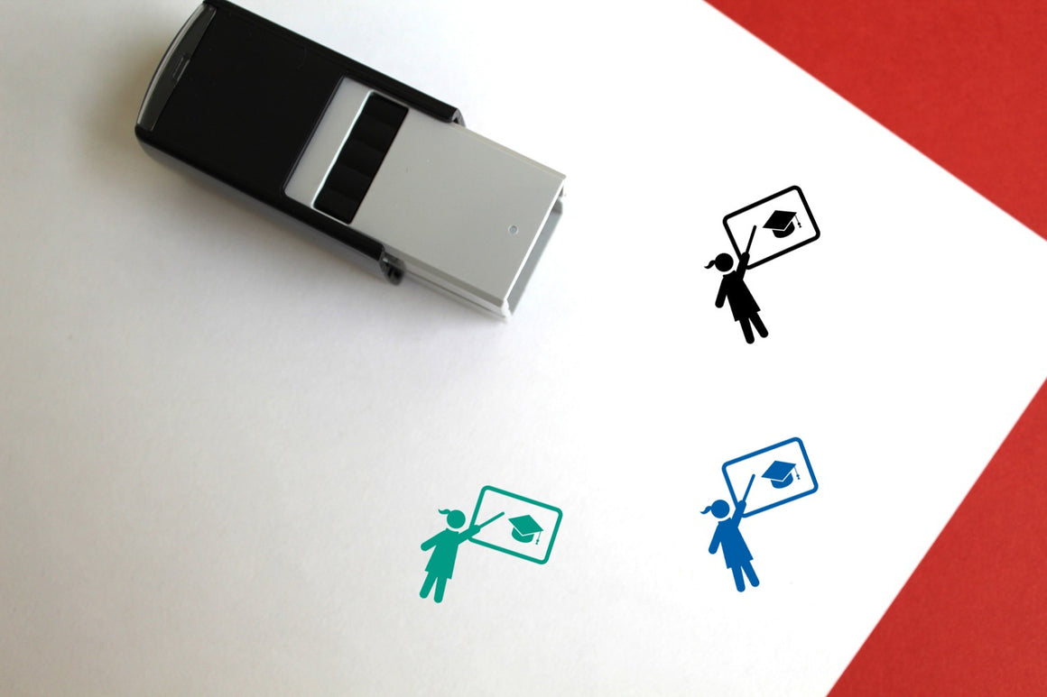 Education Self-Inking Rubber Stamp