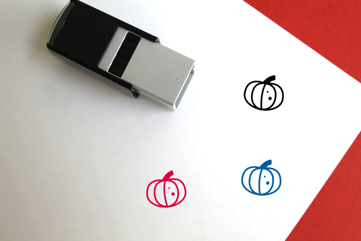 Pumpkin Self-Inking Rubber Stamp