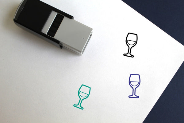 White Wine Self-Inking Rubber Stamp