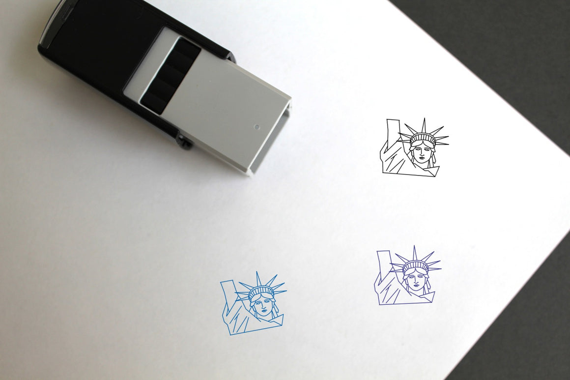 Statue Of Liberty Self-Inking Rubber Stamp