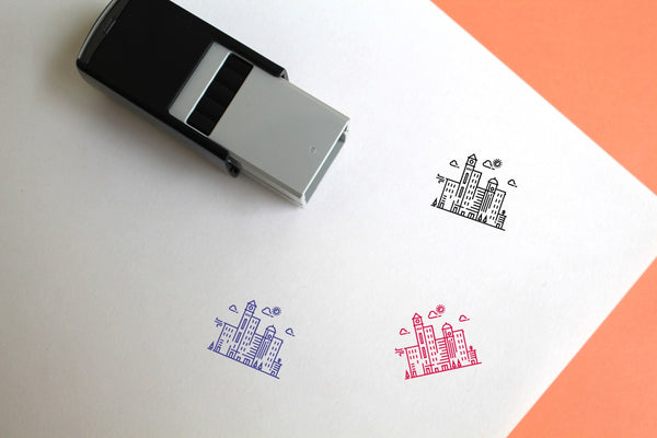 Skyline Self-Inking Rubber Stamp