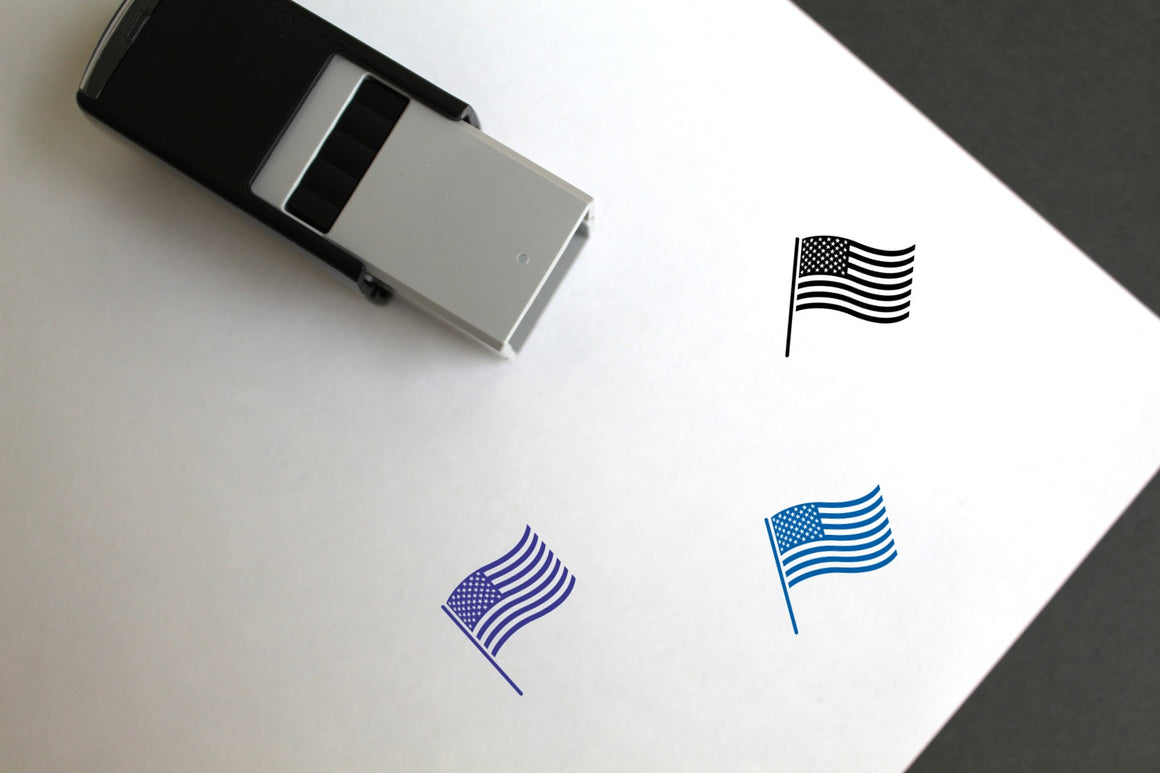 Flag Of United States Of America Self-Inking Rubber Stamp