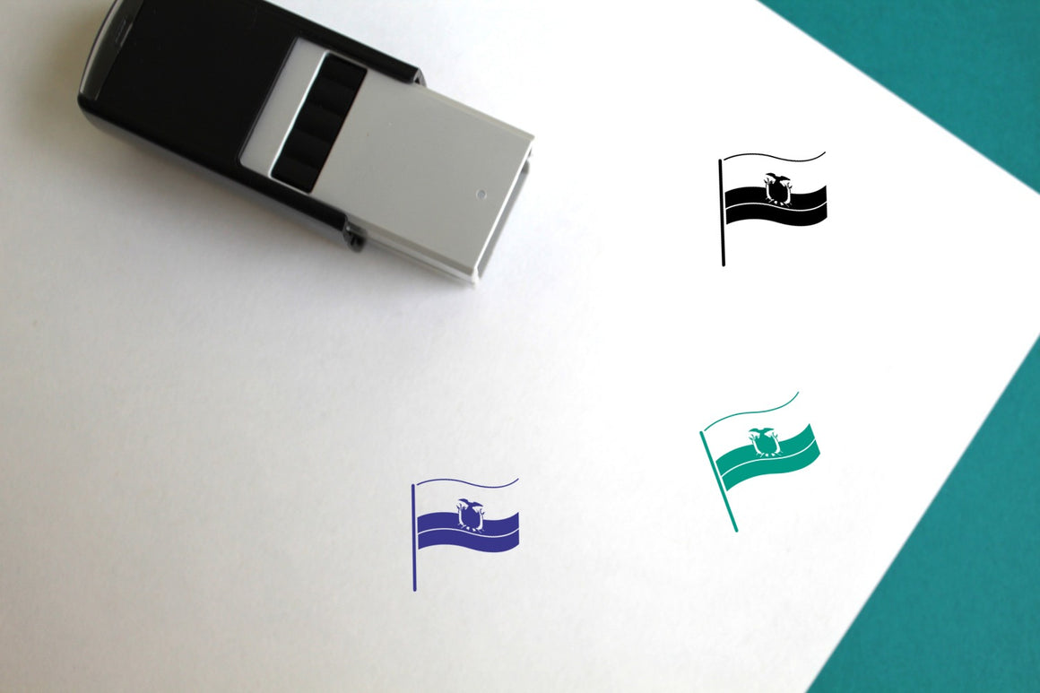 Flag Of Ecuador Self-Inking Rubber Stamp