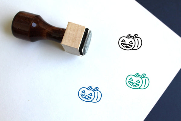 Halloween Wooden Rubber Stamp