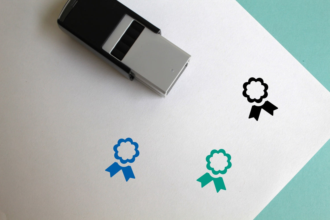 Ribbon Self-Inking Rubber Stamp
