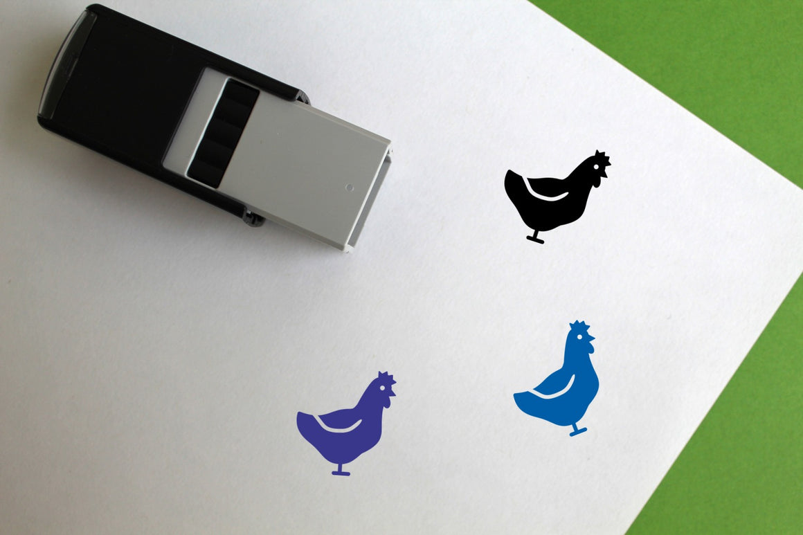 Hen Self-Inking Rubber Stamp