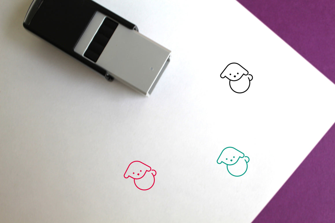 Lamb Self-Inking Rubber Stamp