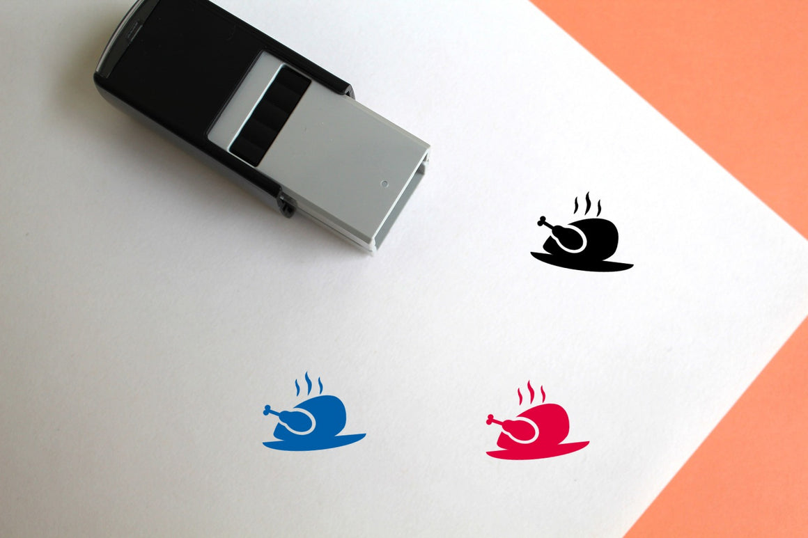 Chicken Self-Inking Rubber Stamp